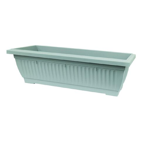 Baba Large Plastic Planter Trough Grey 92cm x 34cm