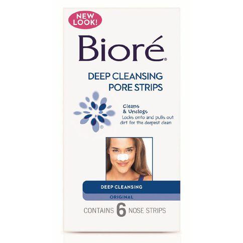 Biore Original Deep Cleansing Nose Strips 6 Pack