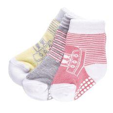 H&H Infants Girls' Crew Socks 3 Pack