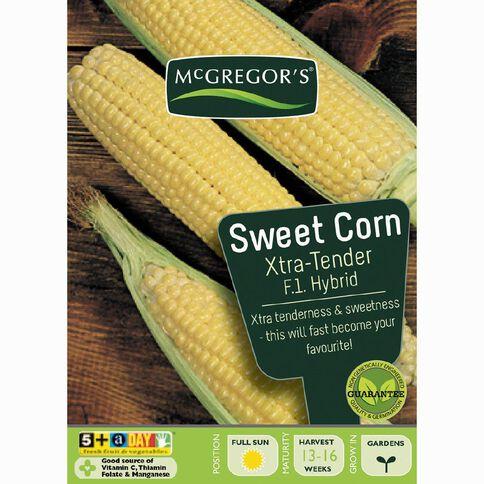 McGregor's Hybrid Extra Tender Sweet Corn Vegetable Seeds