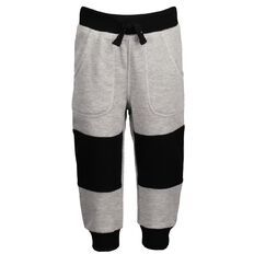 Hippo + Friends Toddler Boy Knee Patch Trackpants