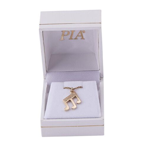 Pia Notes 9ct Gold Diamond Triple Note Pendant