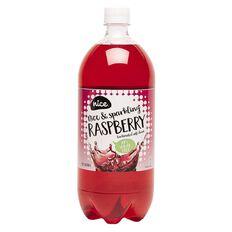 Nice 99% Sugar Free Raspberry Carbonated Beverage 1.25L