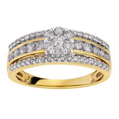 1 Carat of Diamonds 9ct Gold Diamond Cluster Dress Ring