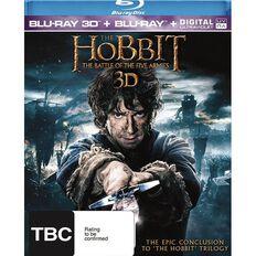 Hobbit Battle of Five Armies 3D Blu-ray 4Disc