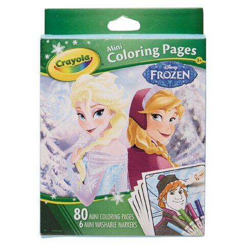 Crayola Mini Colouring Pages Disney Frozen