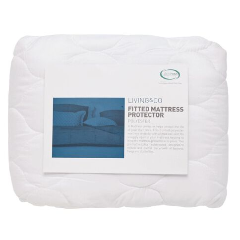Living & Co Mattress Protector Fitted  66cm x 91cm x 193cm Single