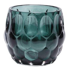 Living & Co Emerald City Glass Candle Holder Small 9cm x 8.5cm