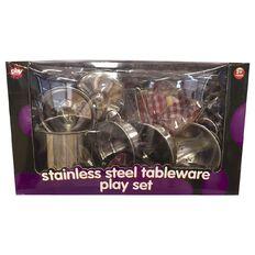 Play Studio Stainless Steel Cooking Playset