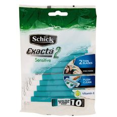 Schick Exacta 2 Disposable Razor Sensitive 10 Pack