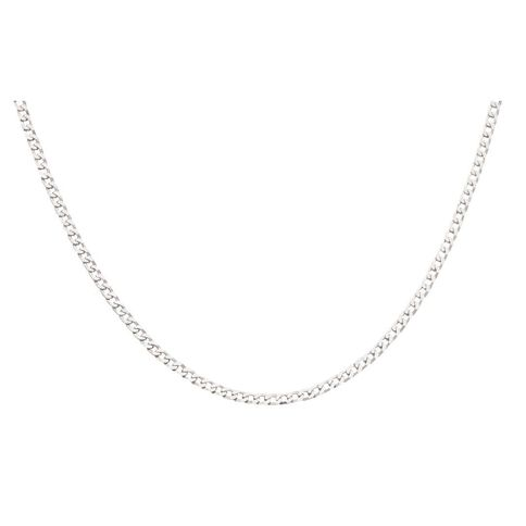 Sterling Silver Flattened Curb Chain 80 Gauge 55cm