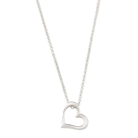 Sterling Silver Floating Heart Pendant