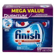 Finish Auto Dishwasher Quantum Tabs 60 Pack