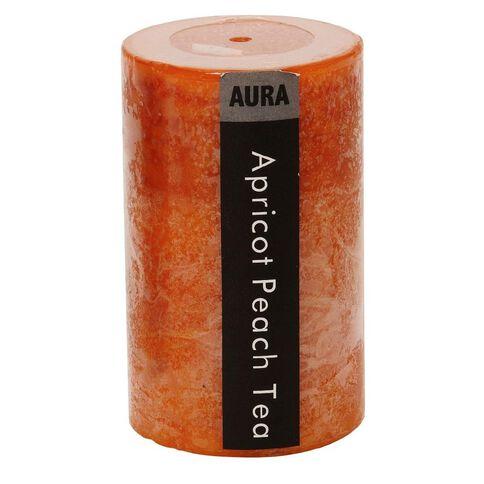 Aura Pillar Candle Apricot & Peach Tea