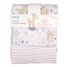 Rocco And Tolly Woodland Muslin Wrap 2 Pack