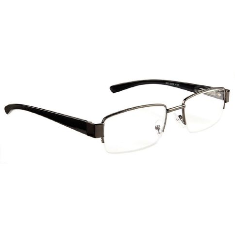 Focus Reading Glasses Half Eye Gunmetal 1.25