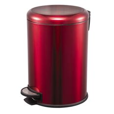 Living & Co Stainless Steel Slow Close Pedal Bin Red 20L