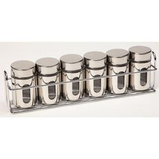 Spice Jar with Chrome Rack Set 6 Piece