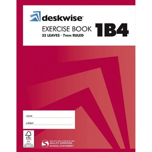 Deskwise Exercise Book 1B4 7mm Ruled 32 Leaf