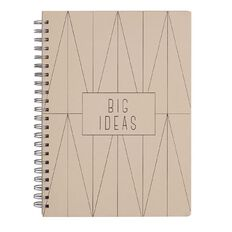Stylo Copper Blush Spiral Notebook with Gold Foil A4