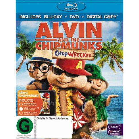 Alvin and The Chipmunks Chipwrecked Blu-ray 2Disc
