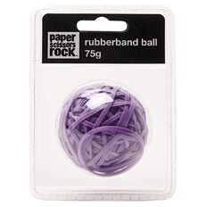 Paper Scissors Rock Sticky Rubber Band Ball Purple 75g