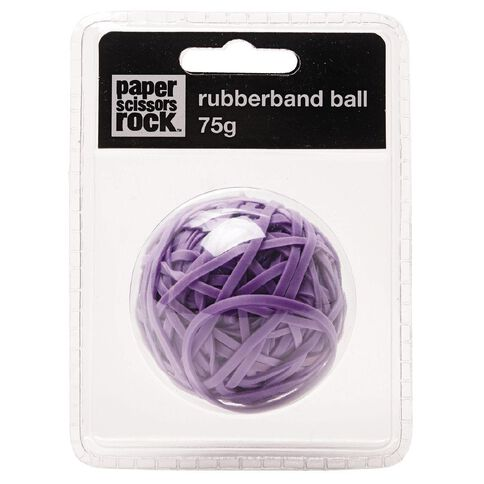 Paper Scissors Rock Sticky Rubber Band Ball Purple 75g