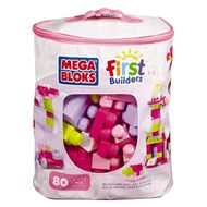 Fisher-Price Mega Bloks Big Building Bag Assorted Colours 80 Piece