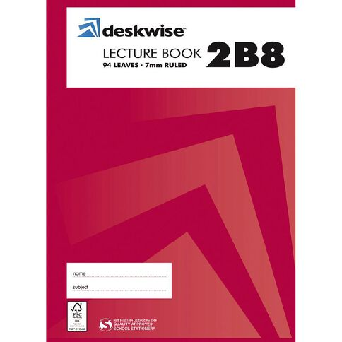 Deskwise Lecture Book 2B8 7mm Ruled Hardcover 94 Leaf
