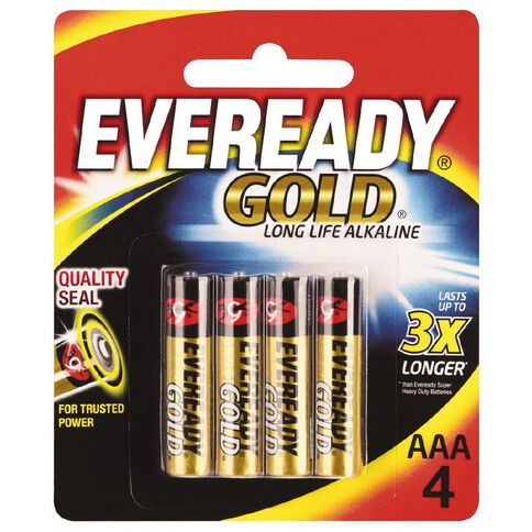 Eveready Gold Batteries AAA 4 Pack