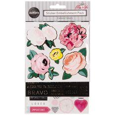 Rosie's Studio Flourish Layered Sticker 3 Pack