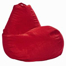 Bean Bag Corduroy Pre Filled Polystyrene Red 200L