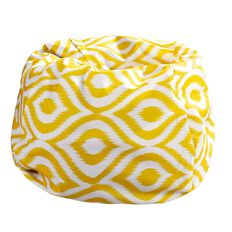 Living & Co Bean Bag Cover Yellow Print 200L
