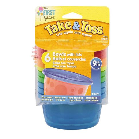 Take & Toss Bowls with Lids 8oz 6 Pack