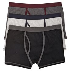 H&H Men's Fitted Trunks 3 Pack