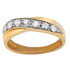 1/2 Carat of Diamonds 9ct Gold Diamond Channel Wave Ring