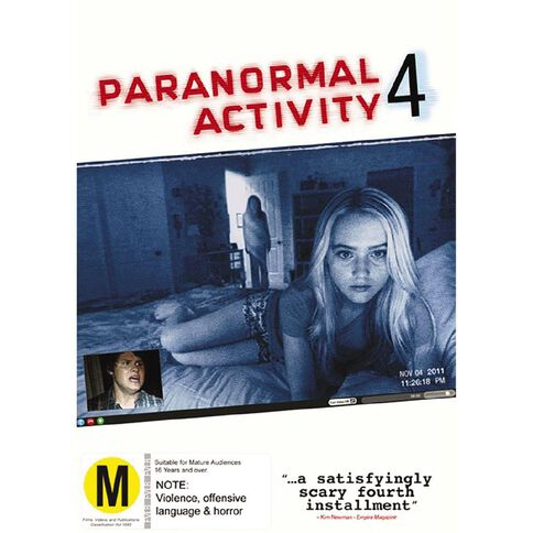 Paranormal Activity 4 Theatrical Version DVD 1Disc