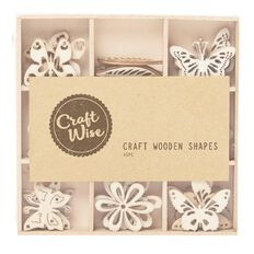 Craftwise Butterfly Wooden Shapes 45 Piece