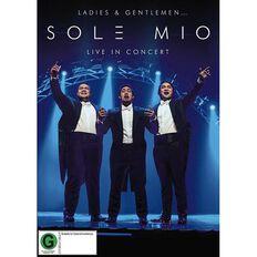 Ladies and Gentlemen Sol3 Mio Live in Concert DVD by Sol3 Mio 1Disc