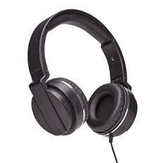 Necessities Brand Over Ear Headphones Black