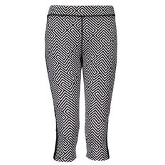 Active Intent Girls' Printed with Plain Splice Capri Pants