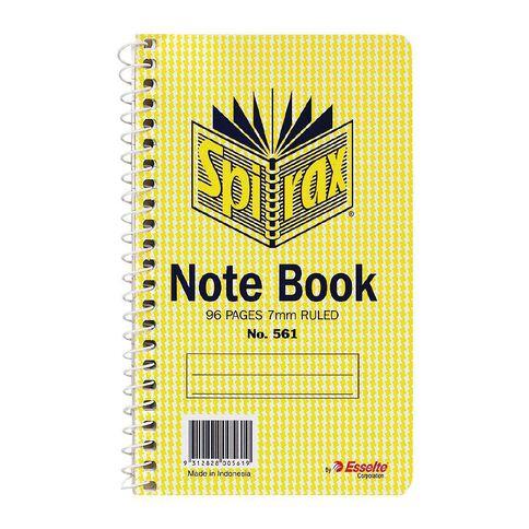 Spirax Notebook Spiral No.561 96pg 7mm Ruled 147 x 87mm