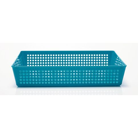 Taurus Plastic Basket Tray Teal Large