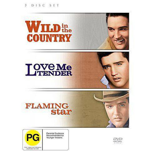 Love Me Tender / Flaming Star / Wild In The Country DVD 3Discs