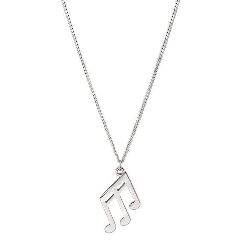 Pia Notes Sterling Silver Triple Note Pendant