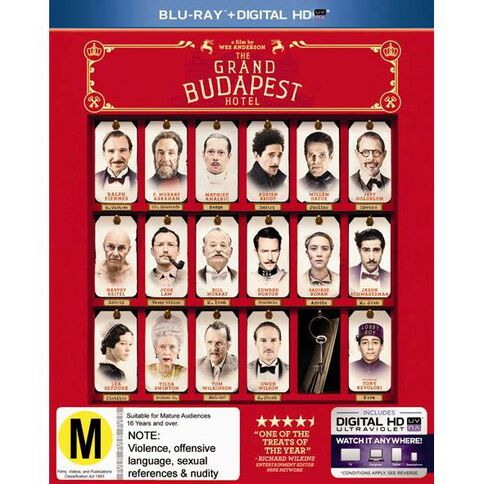 The Grand Budapest Hotel Blu-ray 1Disc