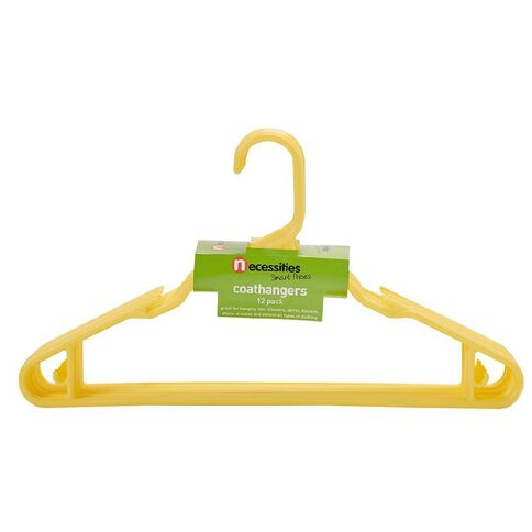 Necessities Brand Coloured Coathangers 12 Pack