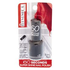 Rimmel 60 Second Nail Polish Black Out