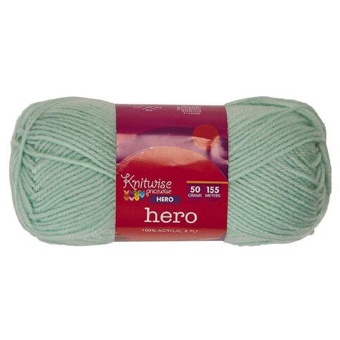 Knitwise Hero Yarn Hero 8-Ply Elf Green 50g