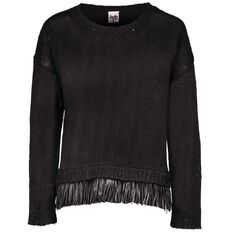 A'nD PU Fringe Jumper
